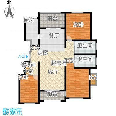 龙湖香醍国际社区155.00㎡洋房B3户型