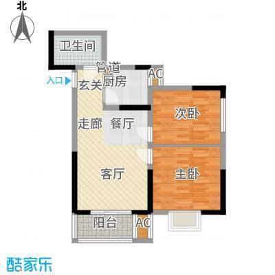大唐新干线67.72㎡J户型