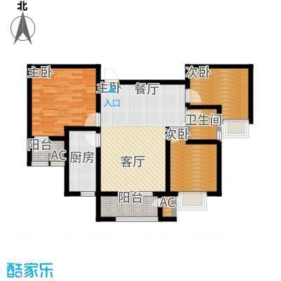清渭公馆102.00㎡13#楼E户型