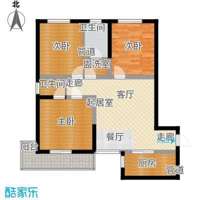 泾渭馨佳苑102.83㎡泾渭・馨佳苑C户型