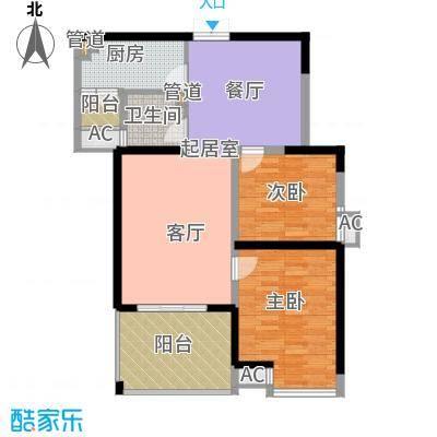 曲江观邸93.00㎡12#B面积9300m户型