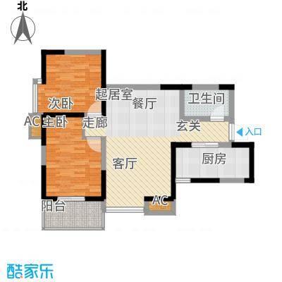 凤城九号85.85㎡1、7号楼A2户型