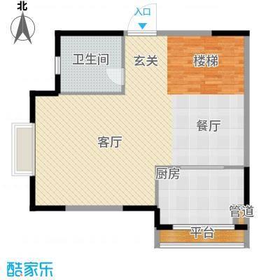 锦园君逸91.08㎡8号楼复式结构T31层户型