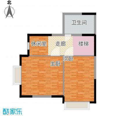 锦园君逸91.08㎡8号楼复式结构T32层户型