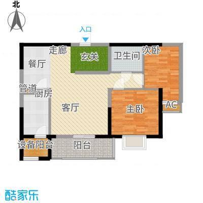 锦园君逸84.95㎡6、7号楼S2户型