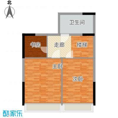 锦园君逸93.87㎡8号楼复式结构T12层户型