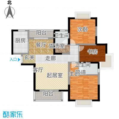 紫薇永和坊123.00㎡户型