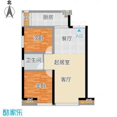 华远君城91.00㎡5号楼A4面积9100m户型