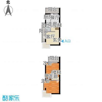 渭城风景54.60㎡D1户型