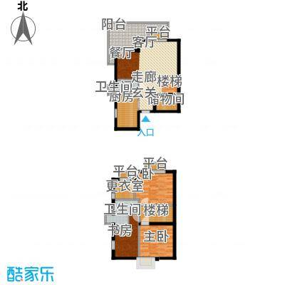 渭城风景68.06㎡A1户型