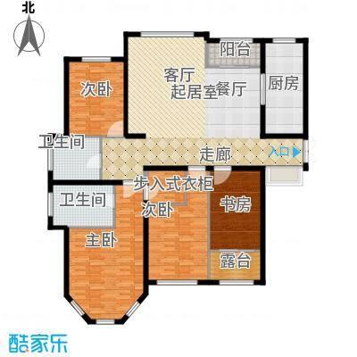 香江湾168.00㎡1号楼F1户型