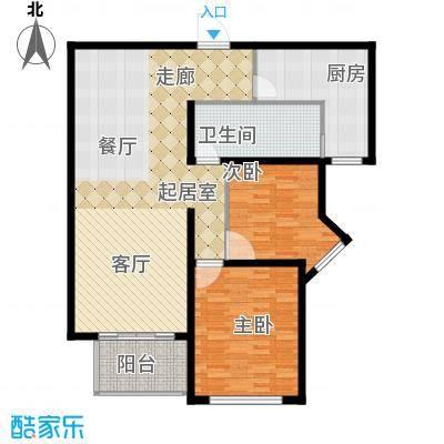 香江湾111.00㎡1号楼G4户型
