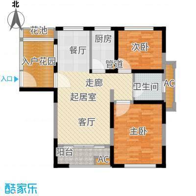 大华曲江公园世家89.90㎡A1819号楼户型