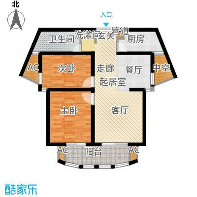 大华曲江公园世家90.00㎡B123号楼户型
