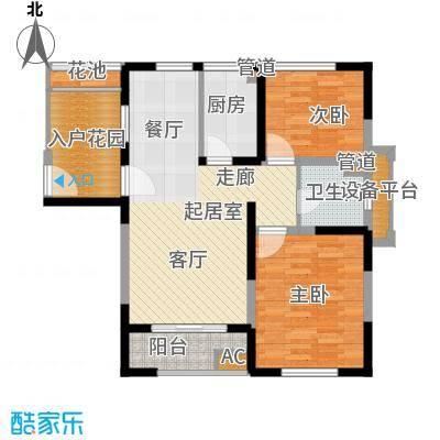 大华曲江公园世家92.23㎡18、19号楼A户型
