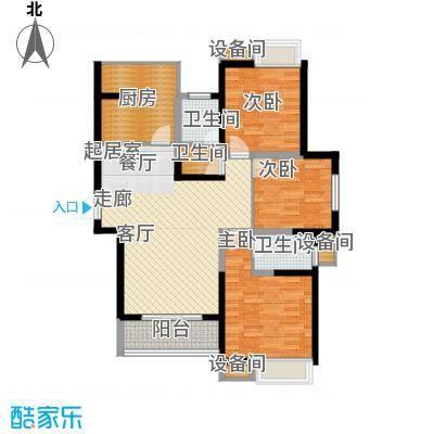 海荣阳光城121.00㎡面积12100m户型
