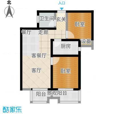 西纺逸品园85.50㎡西纺・逸品园1号楼B户型
