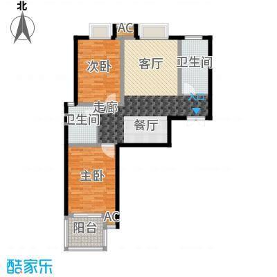 中铁尚都城89.00㎡中铁・尚都城4#C1户型
