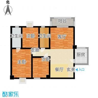 郦景澜庭133.08㎡二期1-3号楼A2户型