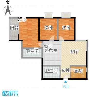 紫气东来129.35㎡1、2、3#楼C2户型
