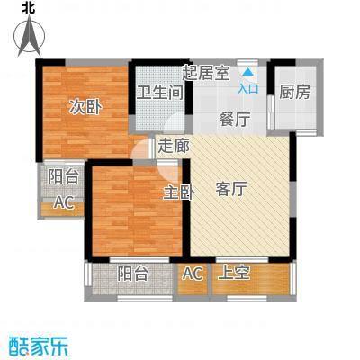 唐韵三坊85.83㎡三期14/15/18号楼B3偶数层户型