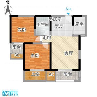 唐韵三坊85.83㎡三期14/15/18号楼B3奇数层户型