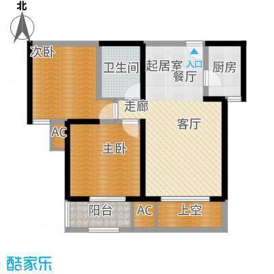 唐韵三坊84.14㎡三期14/15/18号楼B1偶数层户型