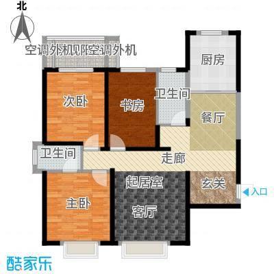 西港碧水湾125.09㎡A户型