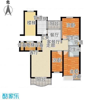 华浮宫桂园4号楼1单元G户东3室户型