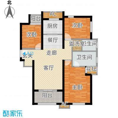 天朗蔚蓝东庭115.77㎡C户型