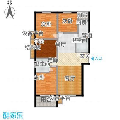 长兴园湖曲119.00㎡长兴・园湖曲8号楼A户型
