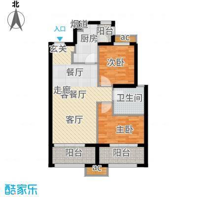 中铁缇香郡78.98㎡中铁・缇香郡5#楼D2户型