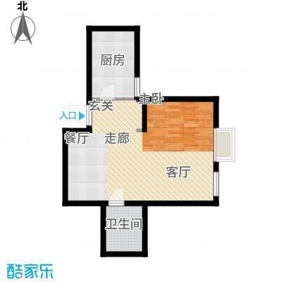 新兴新庆坊55.30㎡户型
