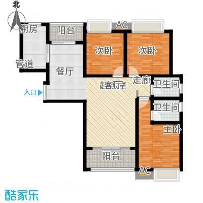 千林世纪城127.10㎡2号楼C1户型