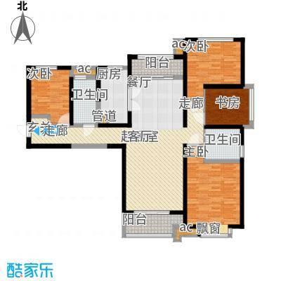 中海城126.00㎡e户型