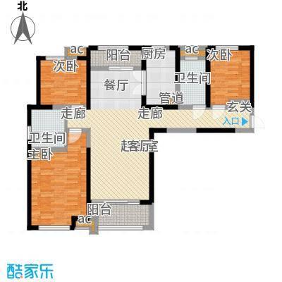 中海城107.00㎡2#、7#D户型