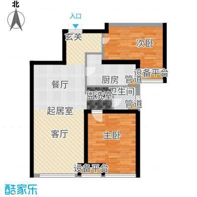 华远海蓝城92.36㎡二期尚苑D4户型