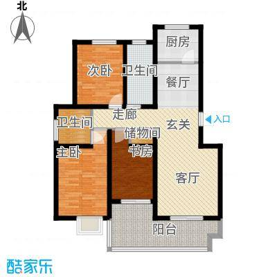 丽湾岛116.84㎡5#楼标准层户型