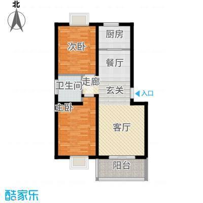 丽湾岛91.62㎡8#楼标准层户型