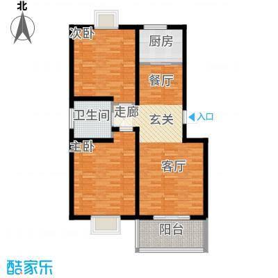丽湾岛92.21㎡9、11#楼标准层户型