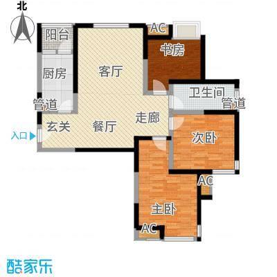滨水花城100.90㎡1#4#楼A1户型