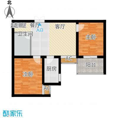 中环国际城73.79㎡2号楼G户型