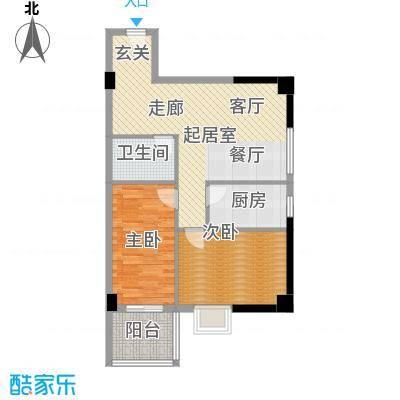 宏信国际花园87.51㎡2号楼M户型