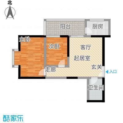 宏信国际花园83.72㎡4、6号楼D户型