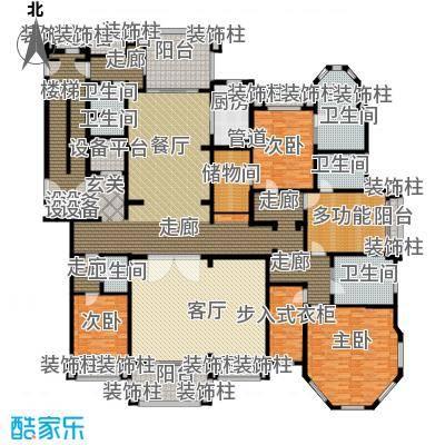 荣禾曲池东岸392.00㎡皇廷1户型