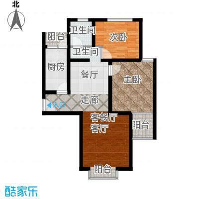 颐和盛世85.28㎡64#楼L2户型