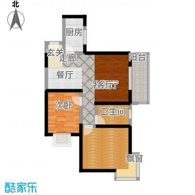 颐和盛世85.70㎡18号楼H户型