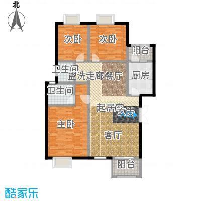 荣华水岸新城129.39㎡D1层户型
