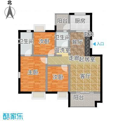 荣华水岸新城120.09㎡H标准层户型