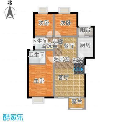荣华水岸新城124.25㎡D2层户型